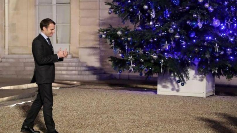 Macron - Elysée - Sapin de Noël