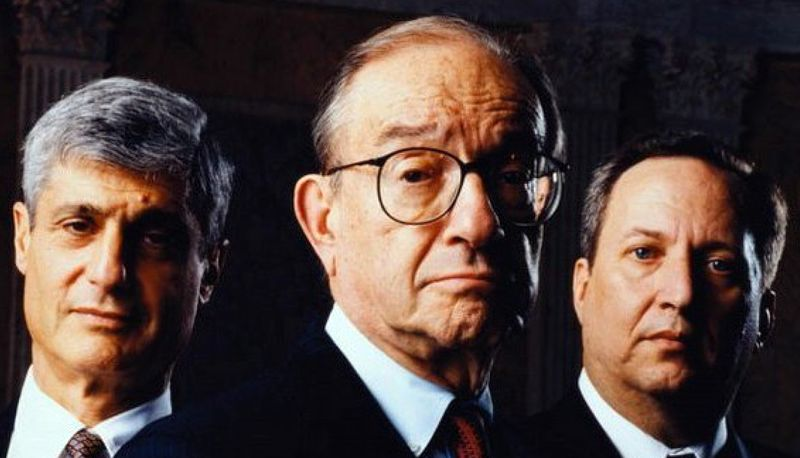 Robert Rubin - Alan Greenspan - Larry Summers - 2