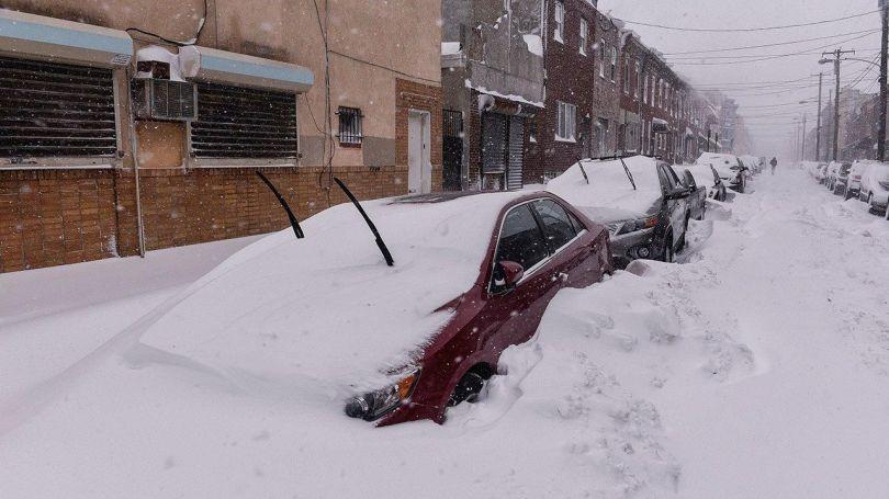 Tempête de neige - Voiture