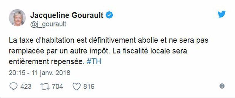 Twitte - Jacqueline Gourault