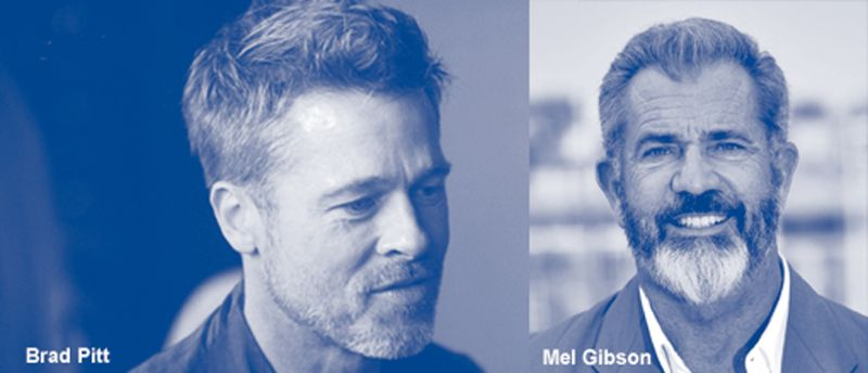 Brad Pitt & Mel Gibson