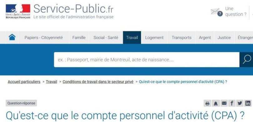 Service public - CPA