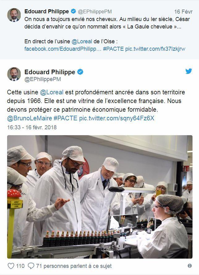 Twitte - Édouard Philippe – L_Oréal