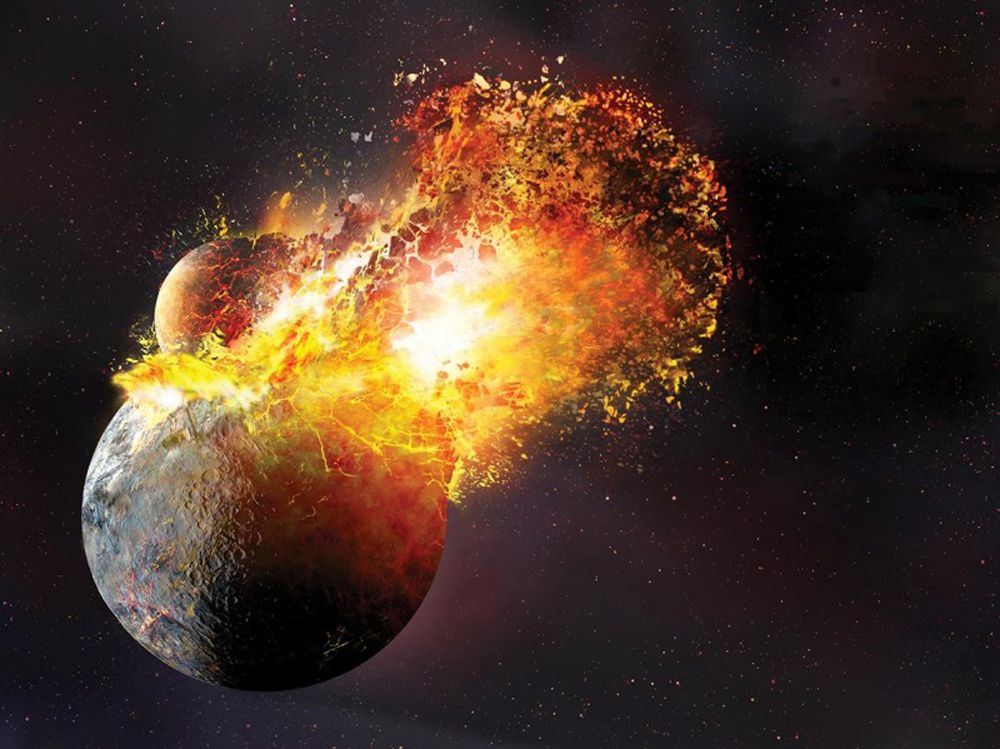 Collision planètes - Formation Lune - Moon
