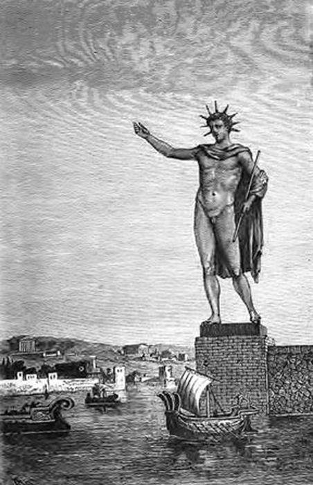 Statue à l'effigie d_Hélios - Charès de Lindos