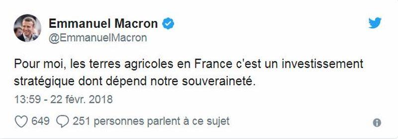 Twitte - Macron