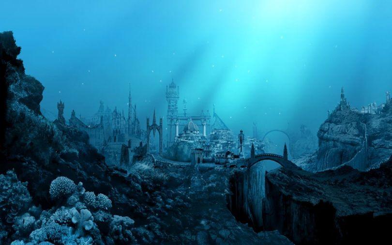 Cité sous la la mer Méditerranée