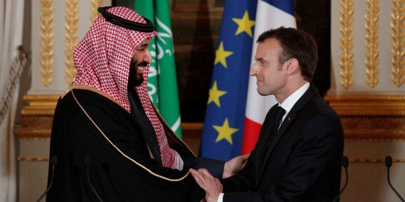 Emmanuel Macron & le prince saoudien Mohammed ben Salmane