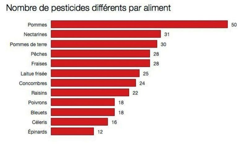 Légumes et fruits – Pesticides - 2