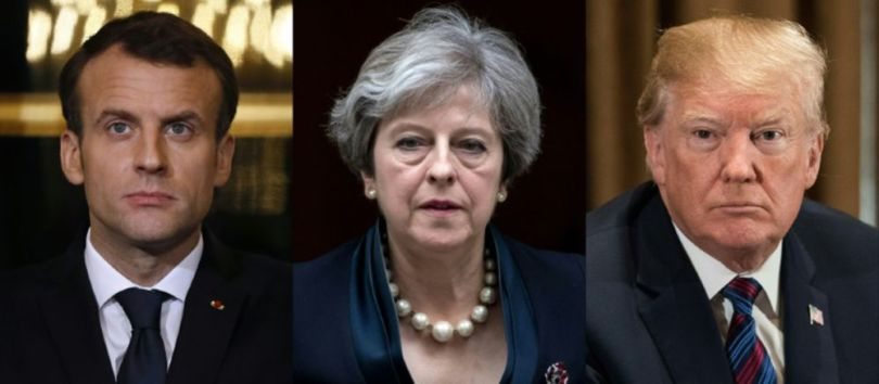 Macron - Theresa May - Trump