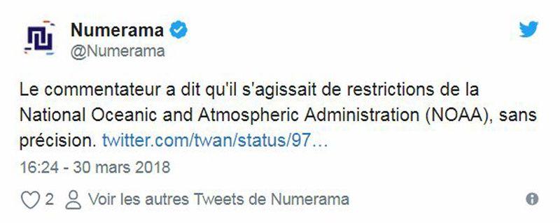 Twitte - Numerama - SpaceX