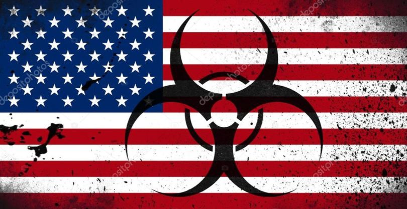 Flag -Biohazard - USA