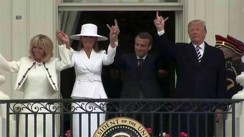 Macron - Trump - Signe cornu - 2