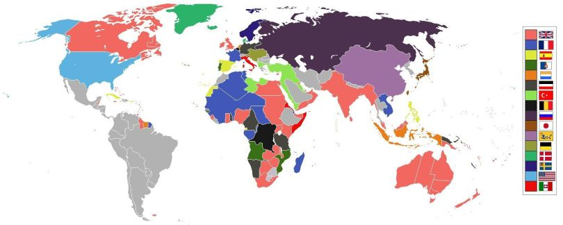 Map - World 1898 empires colonies