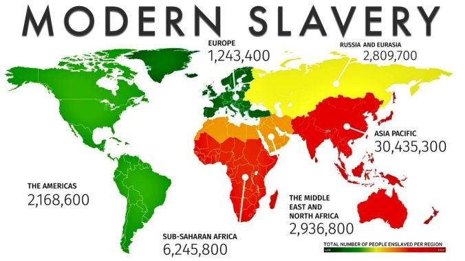 Modern slavery - Map