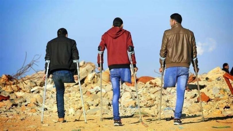 Palestinien handicapé - Balle explosive