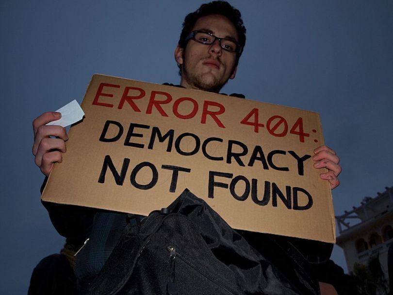 Démocratie - Ereur 404