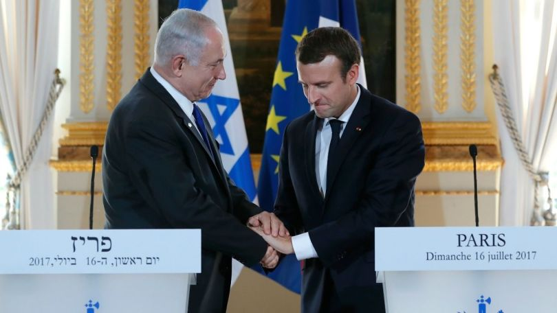 Emmanuel Macron - Benjamin Nethanyou - 1