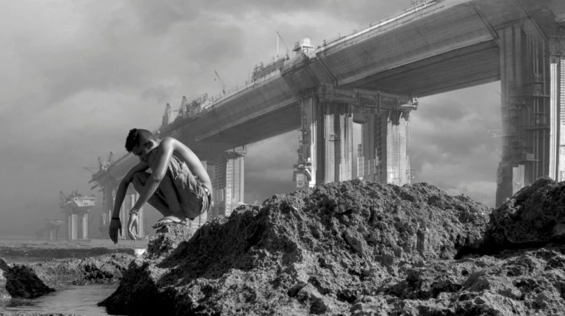 Homme – Paysage apocalyptique