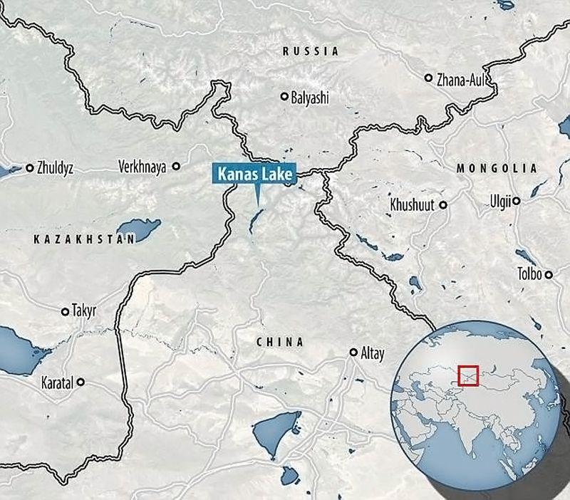 Map - Carte - Lac Kanas - Chine