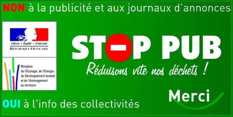 Stop-Pub - Autocollant
