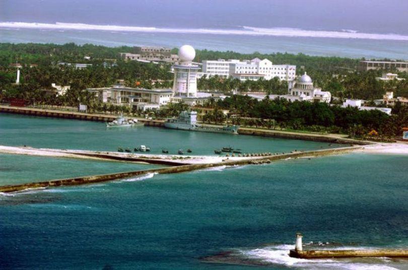 Vue aérienne de la ville de Sansha,