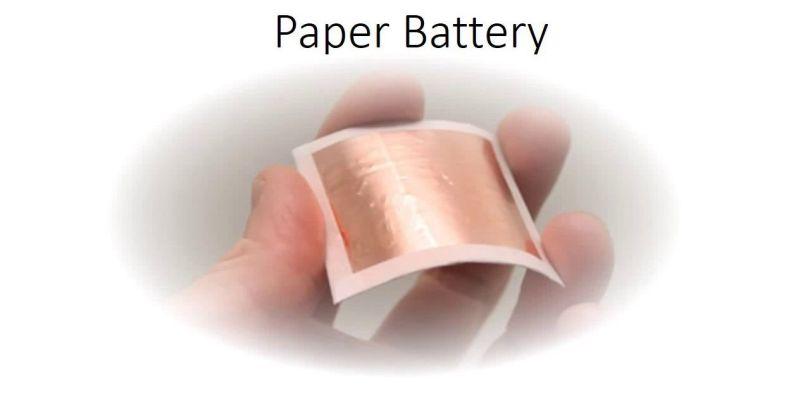 Batteries en papier - 4