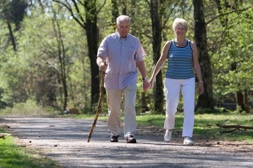 Couple âgé - Marche à pied