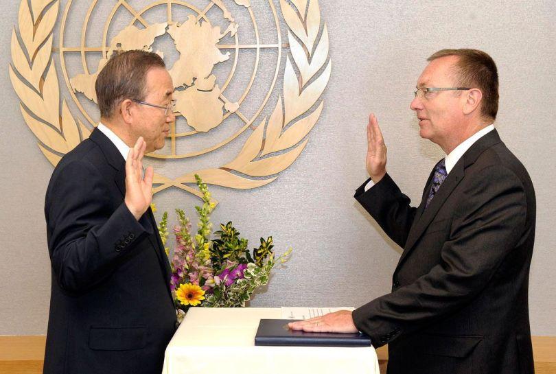 Jeffrey Feltman & Ban Ki-moon - ONU