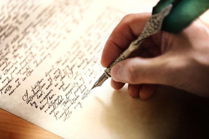 Lettre manuscrite - Plume