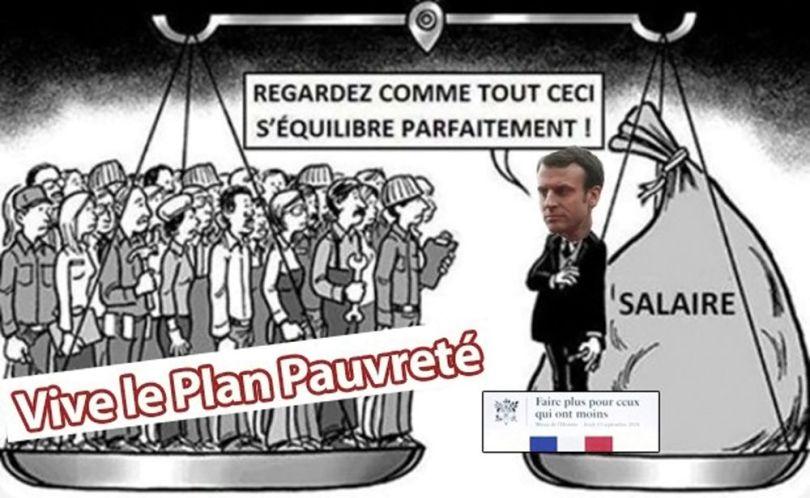 Macron - Plan Pauvreté
