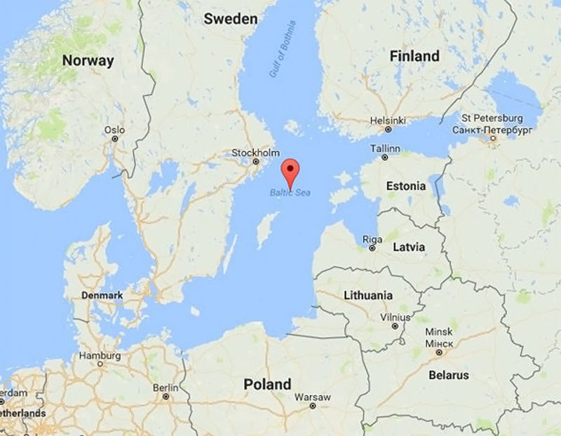 Map - Anomaly sea Baltic