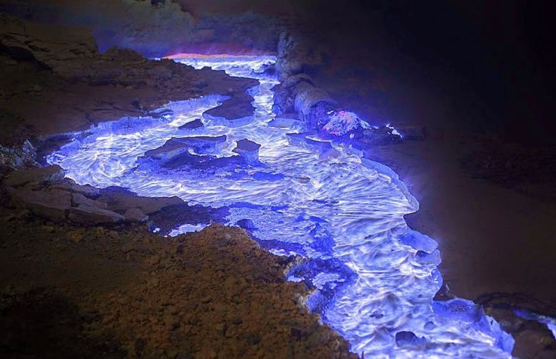 Volcan Kawah Ijen – Lave bleue - 1
