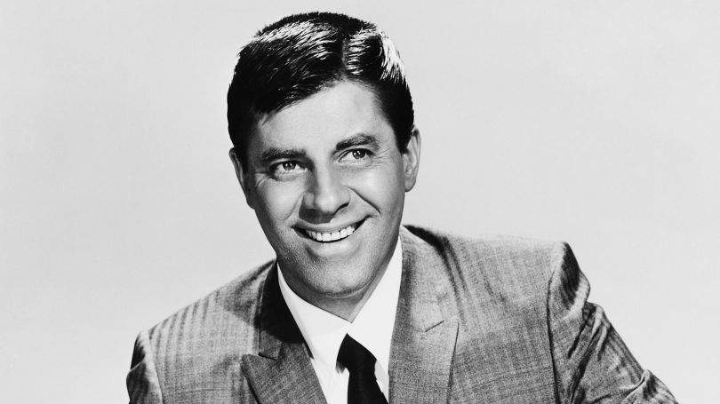Comedian Jerry Lewis Smiling
