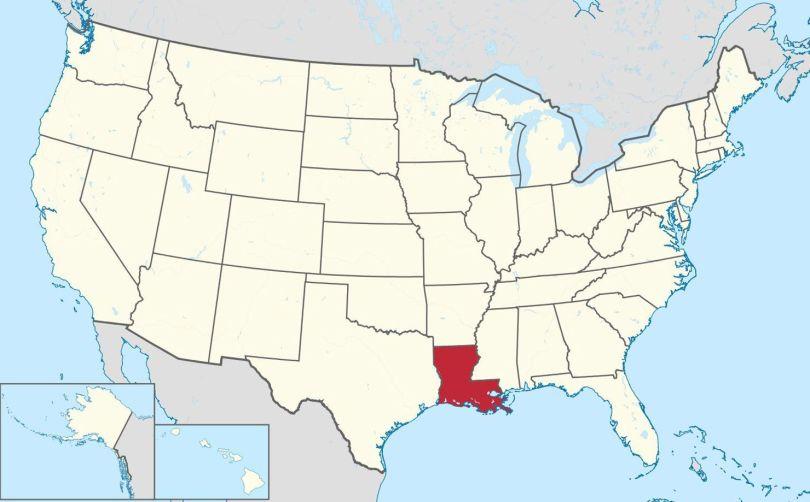 Louisiane - Map - USA - 1