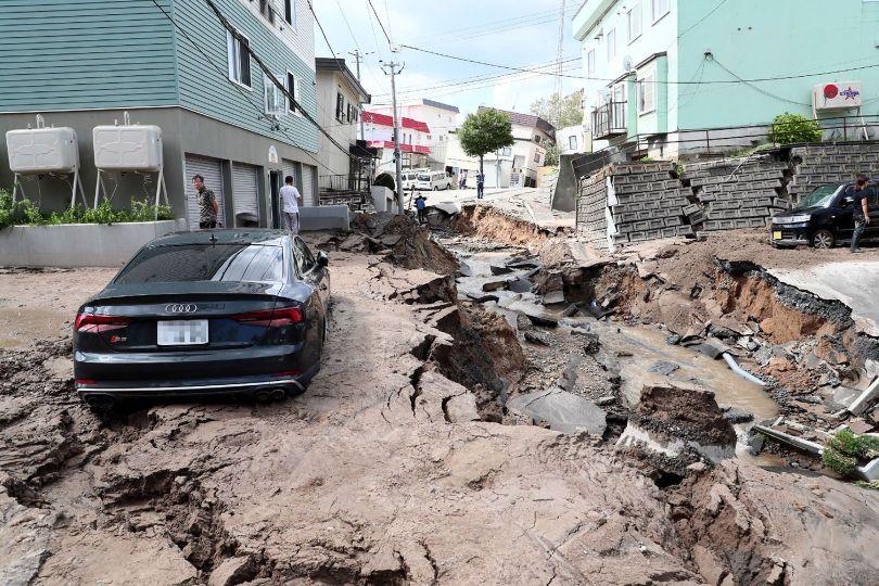 Tremblement de terre – Sapporo - Japon