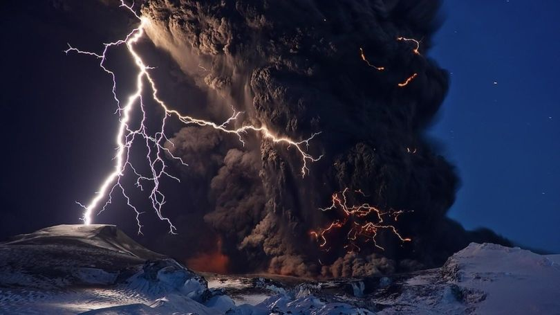 Eruption volcanique - Islande