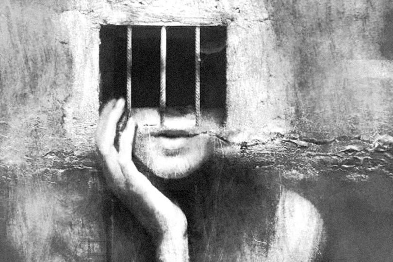 Propagande – Barreaux de prison – Femme