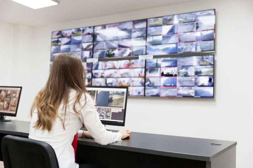 Bureau de surveillance vidéo
