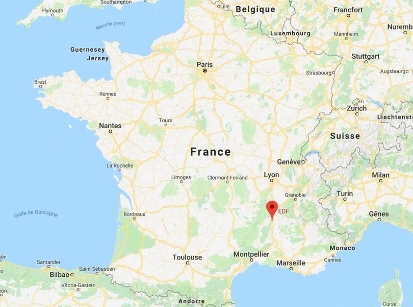 Centrale nucléaire de Cruas - MAP