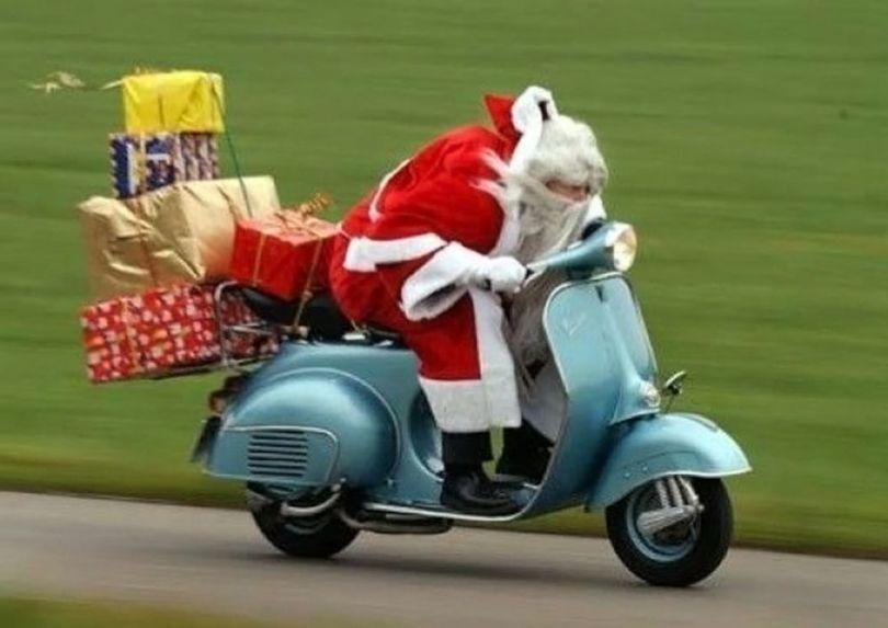 Père Noël - Moto
