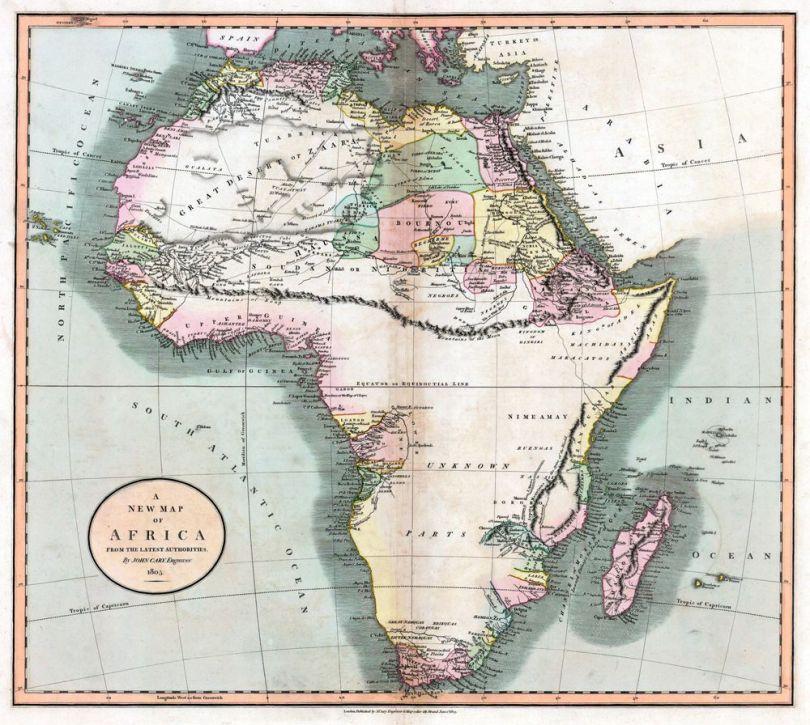 Carte géographique fictive - Afrique - 2