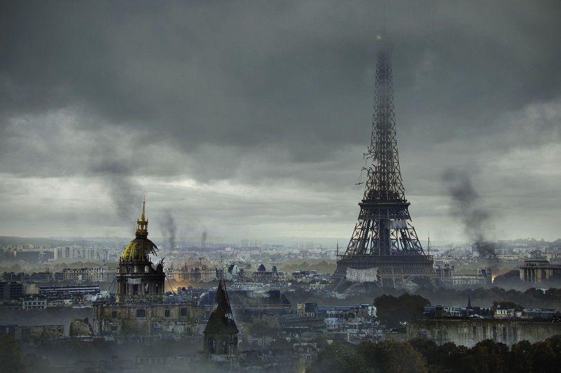 Post-Apocalyptic-Eiffel-Tower-France