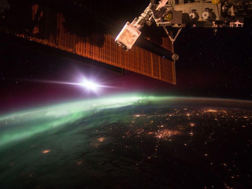 aurore boréale - espace - nasa