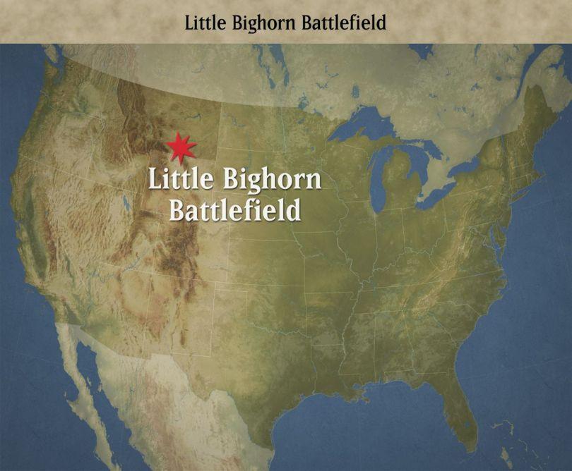 bataille de little bighorn – map