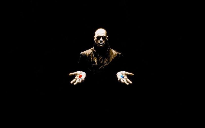 morpheus - matrix - pilule rouge - bleue