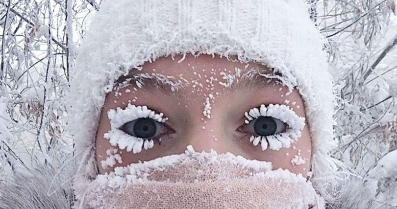 neige - visage femme