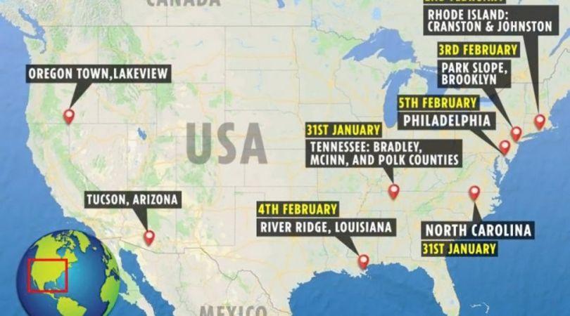 Map - USA - Sons étranges