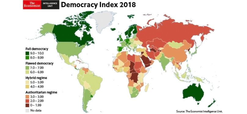 World Democracy Report Index 2018 - 1