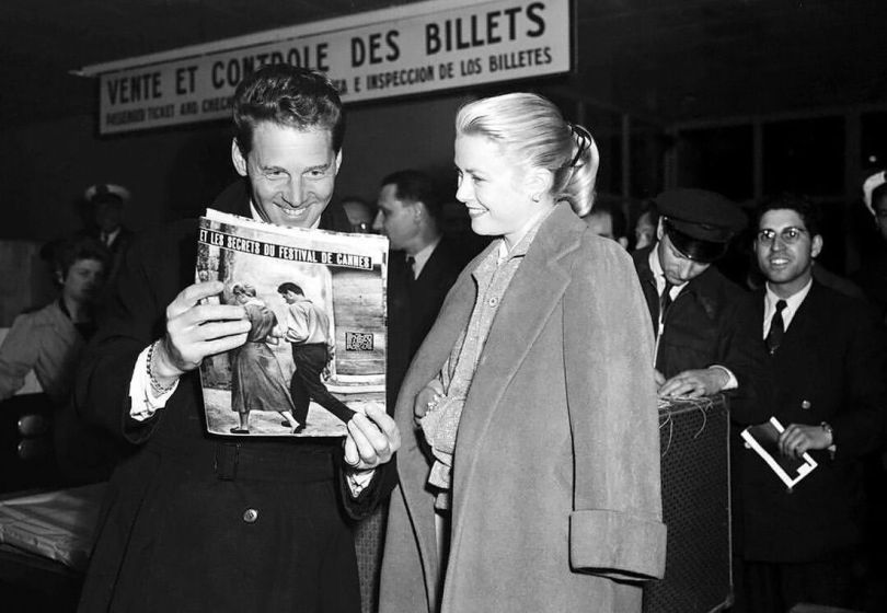 Jean-Pierre Aumont et Grace Kelly